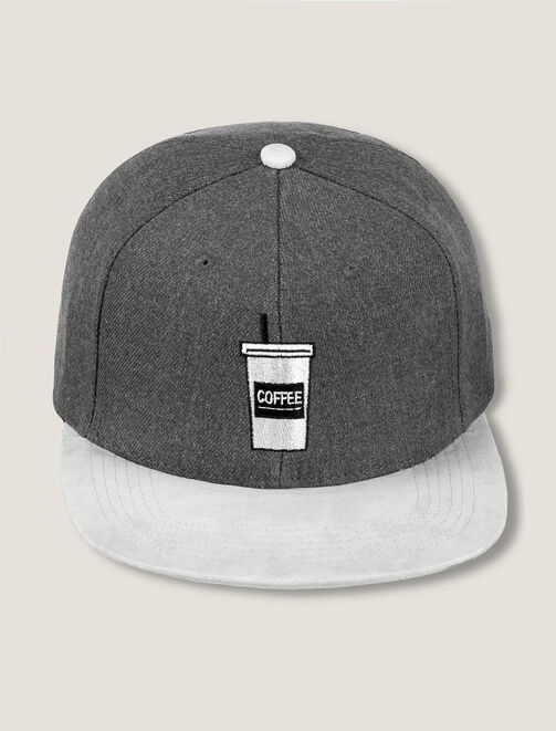 """Casquette bicolore """"coffee cup"""" homme"""