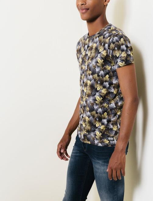 T-shirt all over imprimé Feuillage homme