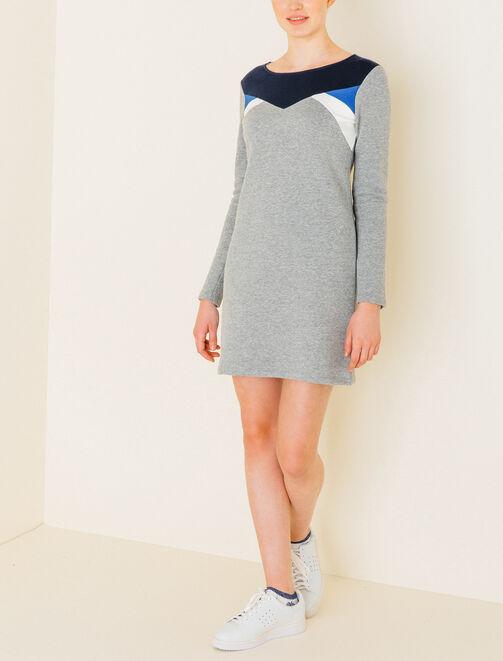 Robe sweat color block femme