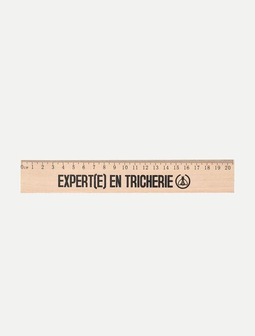 """Règle en bois """"Expert(e) en tricherie"""" tendances"""