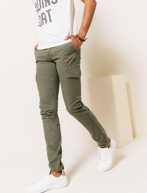 Pantalon chino cargo homme