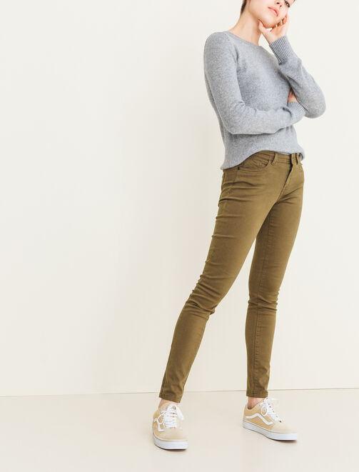 Jean coloré 5 poches femme