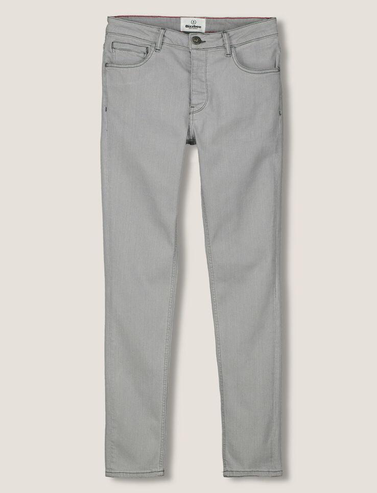 Jean skinny gris clair homme gris moyen bizzbee - Jean gris clair homme ...