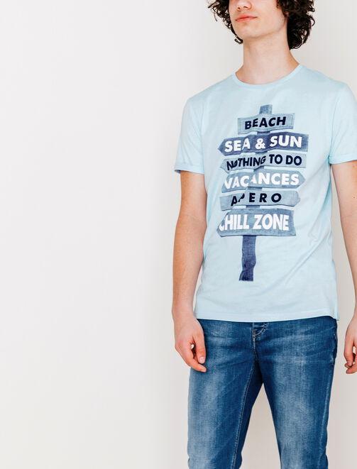 Tee shirt panneaux vacances homme