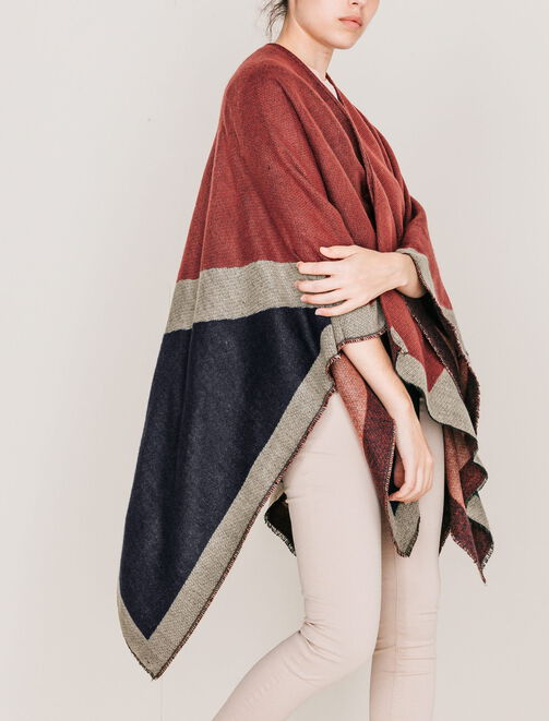 Cape poncho femme