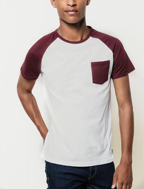 T-shirt raglan contrasté homme