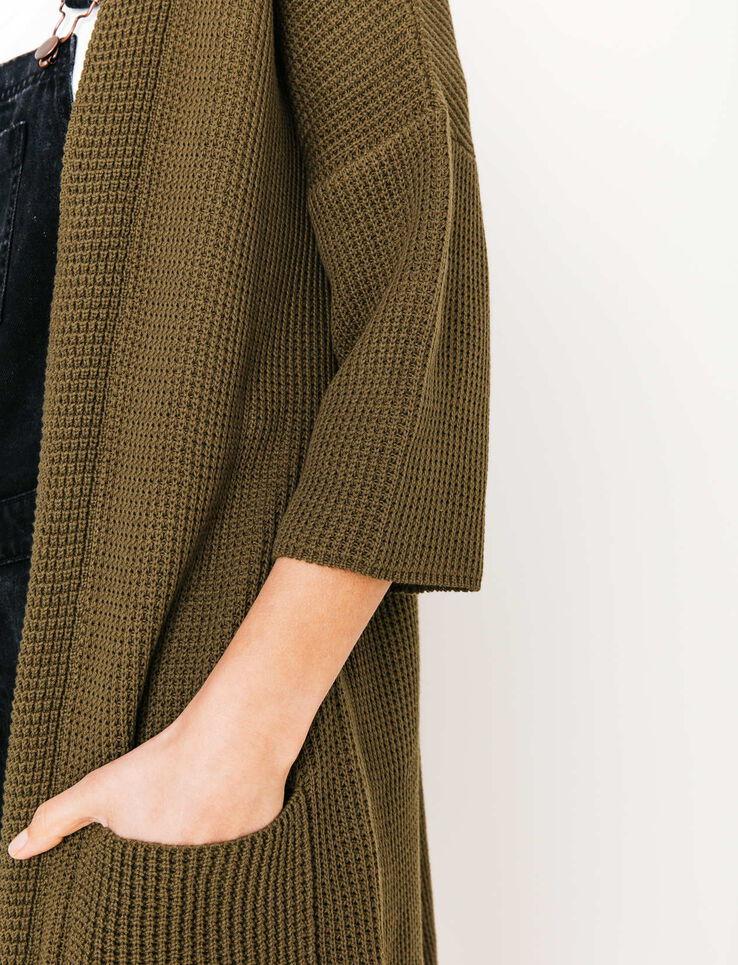 Cardigan kimono à poches
