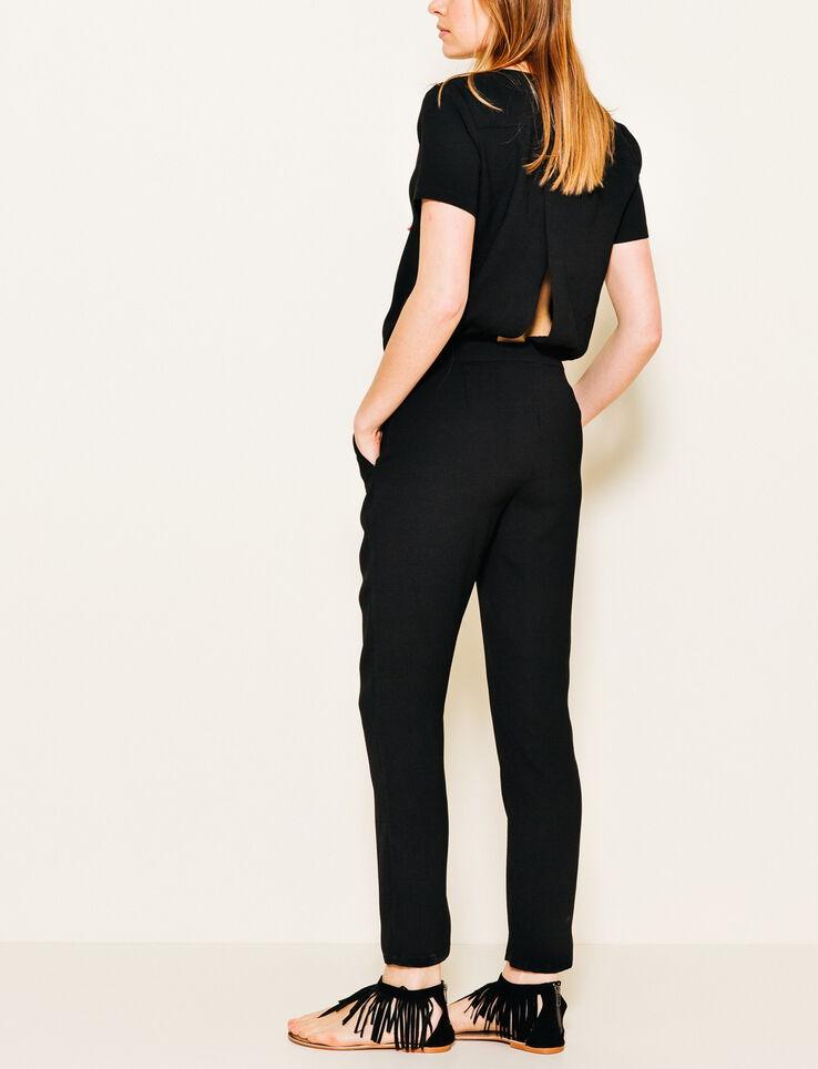 Combi Pantalon Fluide Femme Noir Bizzbee