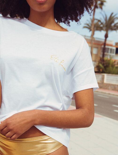 """Tee shirt """"Été paradis"""" X Paulette femme"""