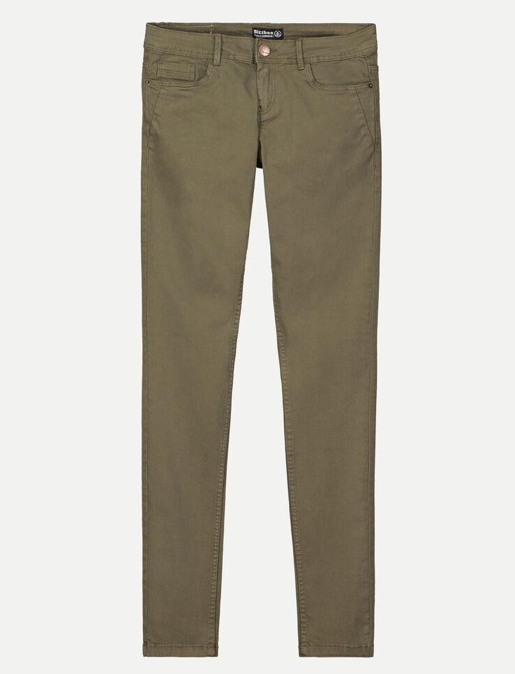 Pantalon 5 poches couleur
