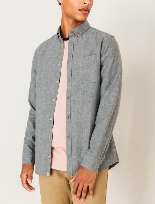 Chemise slim chinée homme