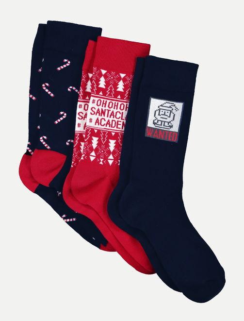 Set de 3 paires de chaussettes de Noël homme