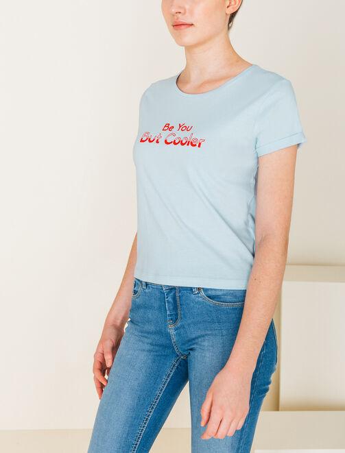 """Tee shirt brodé """"Be You But Cooler"""" femme"""