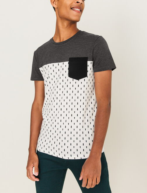 T-shirt color-block imprimé homme