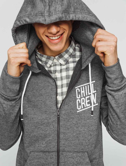 "Sweat zippé ""Chill Crew"" homme"