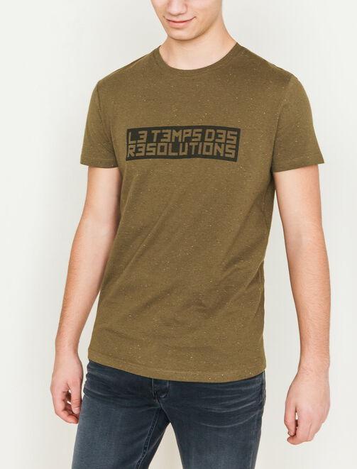 """T-shirt texte """"Le temps des résolutions"""" homme"""