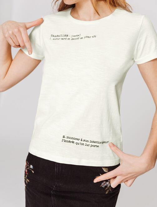 """T-shirt à message """"Trabailler"""" femme"""