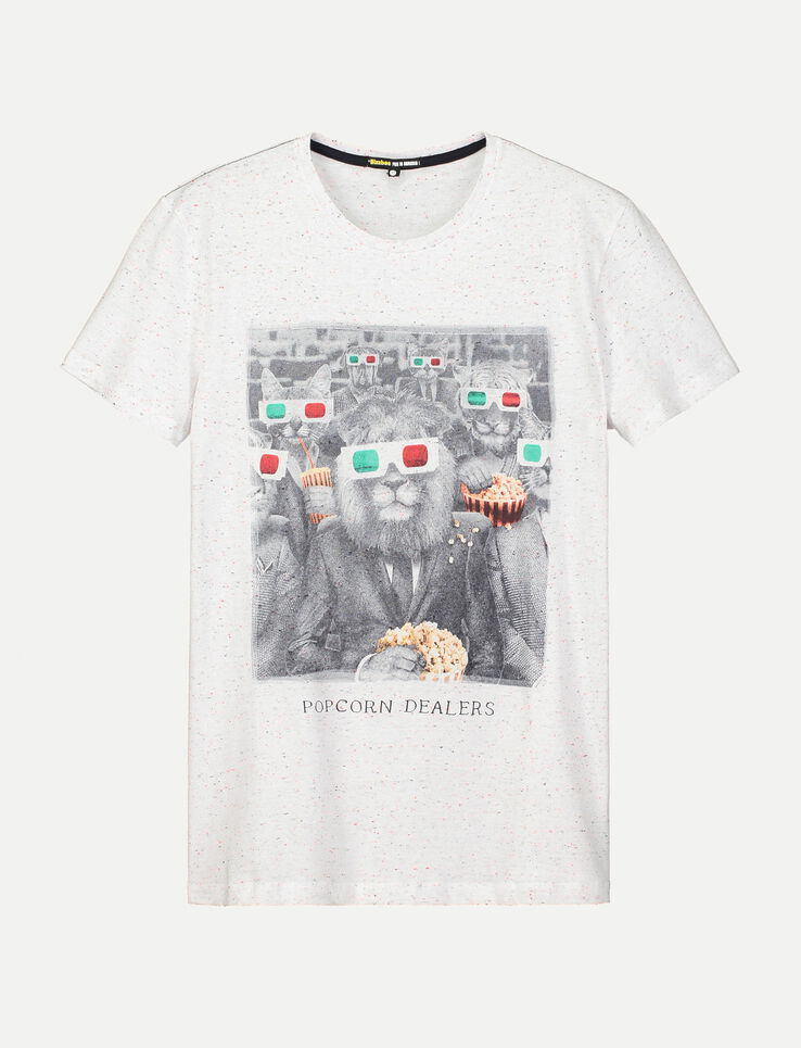 tee shirt imprim animaux humour homme blanc fantaisie bizzbee. Black Bedroom Furniture Sets. Home Design Ideas
