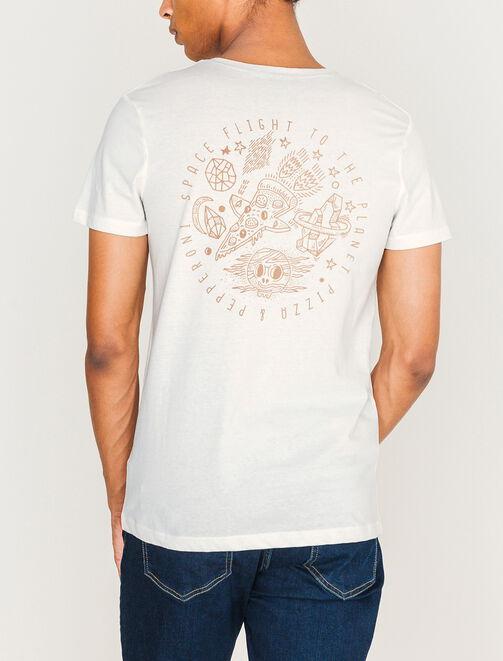 T-shirt imprimé devant et dos homme
