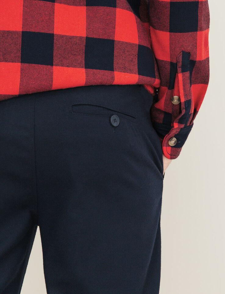 pantalon de ville classique homme bleu marine bizzbee. Black Bedroom Furniture Sets. Home Design Ideas