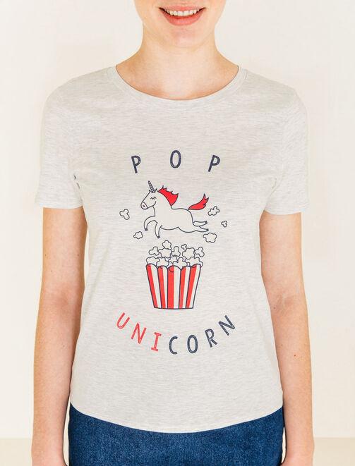 T-shirt imprimé licorne femme