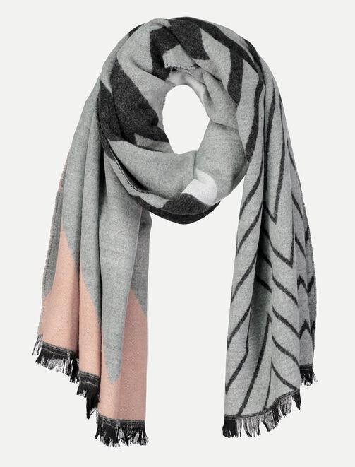 Grand foulard tricolore femme