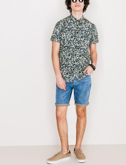 Chemise manches courtes imprimée homme