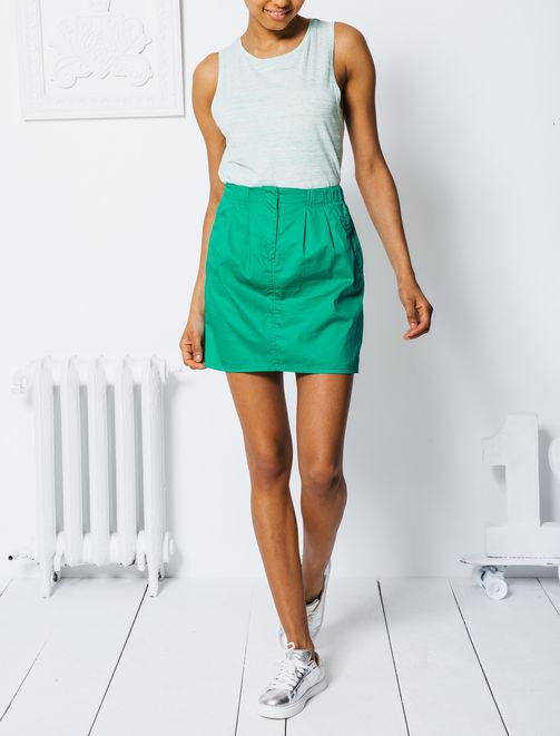 Jupe unie verte femme