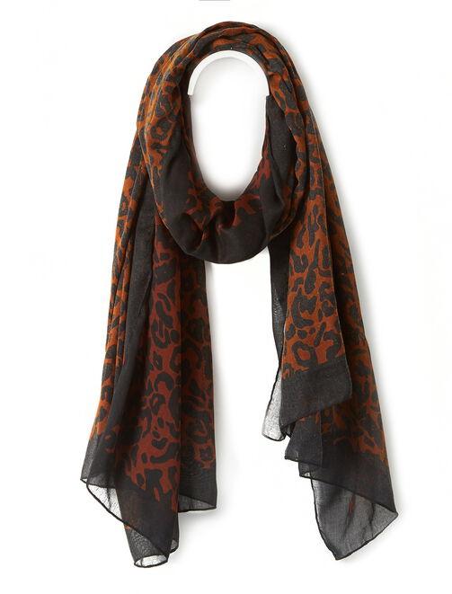 Foulard leopard femme