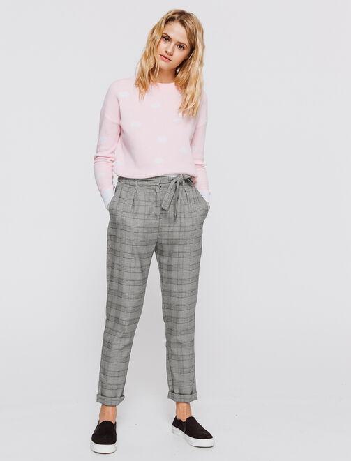 Pantalon Prince de Galles femme