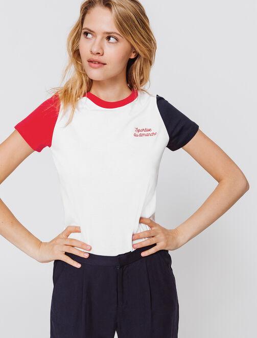 """T-shirt brodé """"Sportive du dimanche"""" femme"""