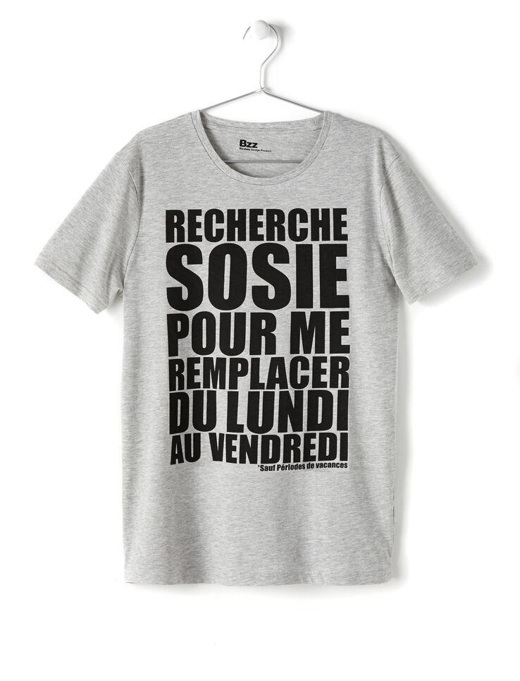 T-shirt imprimé message Sosie