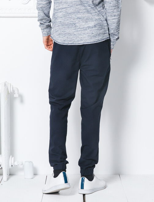 Pantalon bas resserré taille élastiquée homme
