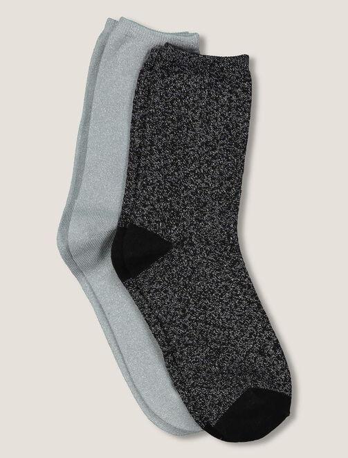 Chaussettes pois lurex femme