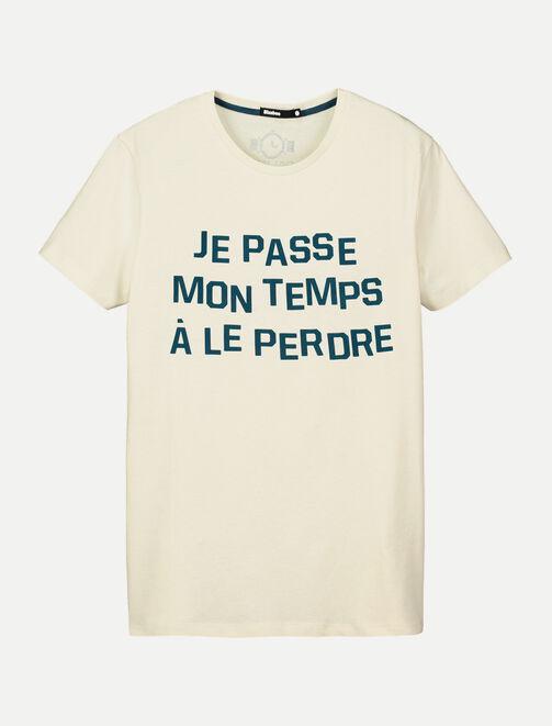 """Tee shirt """"Je passe mon temps à le perdre"""" homme"""