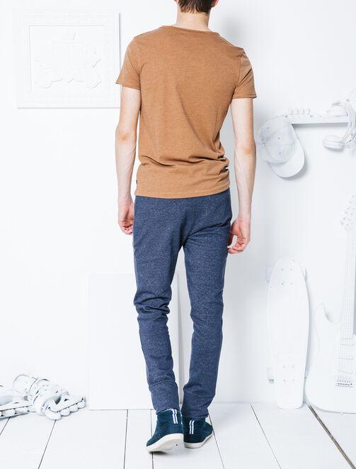 Pantalon molleton poches zippées devant homme