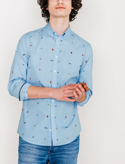 Chemise pictogrammes fruits homme