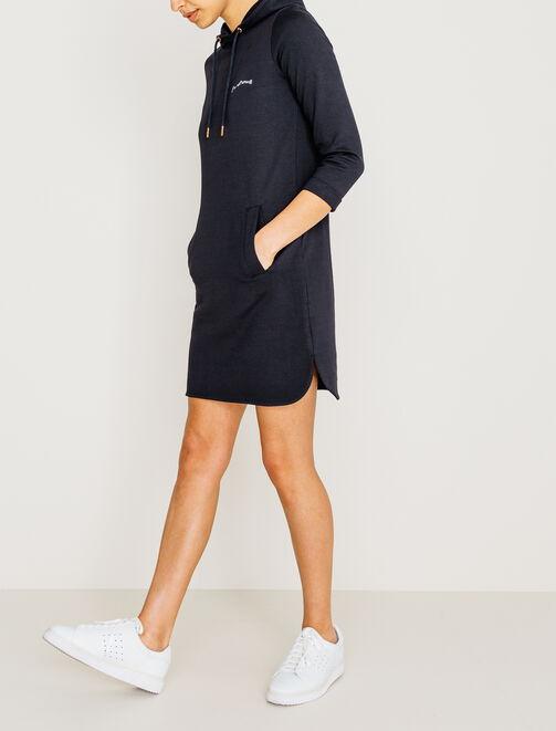 Robe sweat capuche  femme