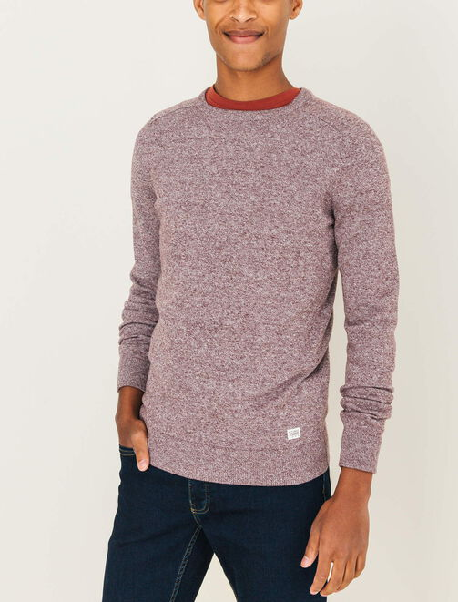 Pull col rond basique homme