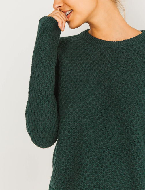 Pull col rond maille fantaisie femme