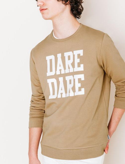 """Sweat typo """"Dare dare"""" homme"""