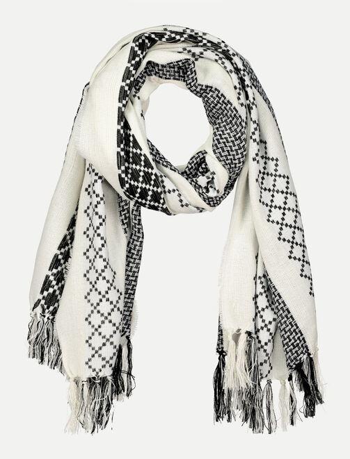 Foulard motif ethnique femme
