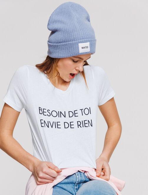 """T-shirt St Valentin """"BESOIN DE TOI ENVIE DE RIEN"""" femme"""