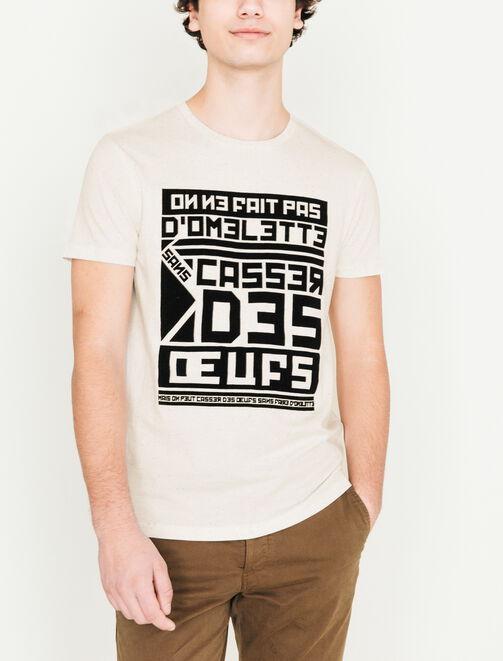 """T-shirt humour """"casser des oeufs"""" homme"""
