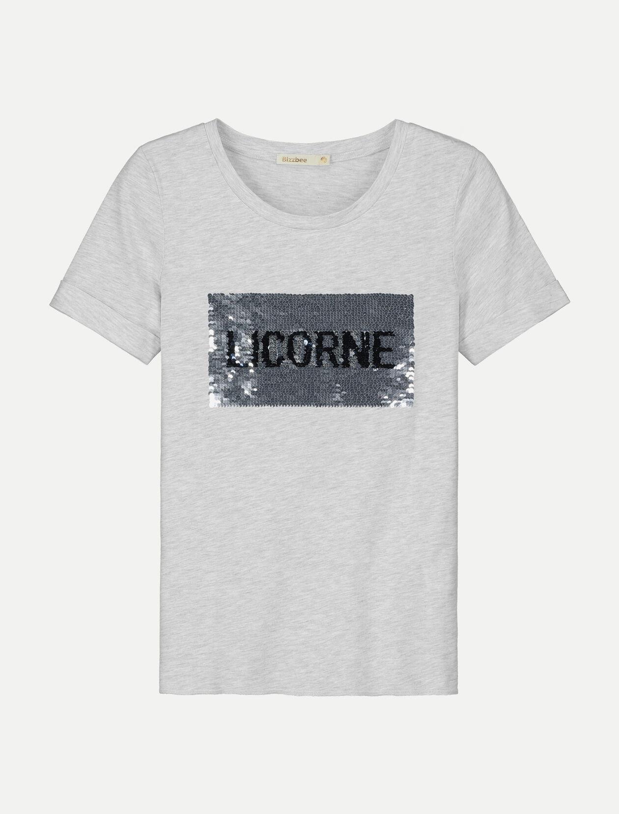 femmes Manches Shirt Reversible T Paillette Femme jUSMpzLqVG