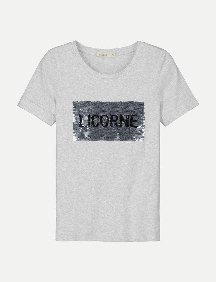 Tee shirt à sequins Licorne / Sirène