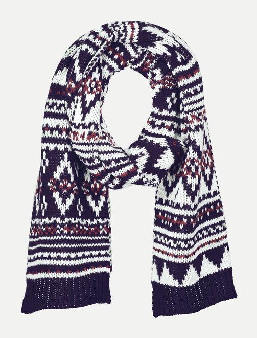 Écharpe tricot jacquard homme