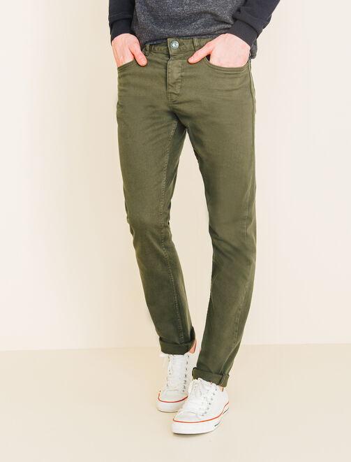 Pantalon 5 poches basique homme