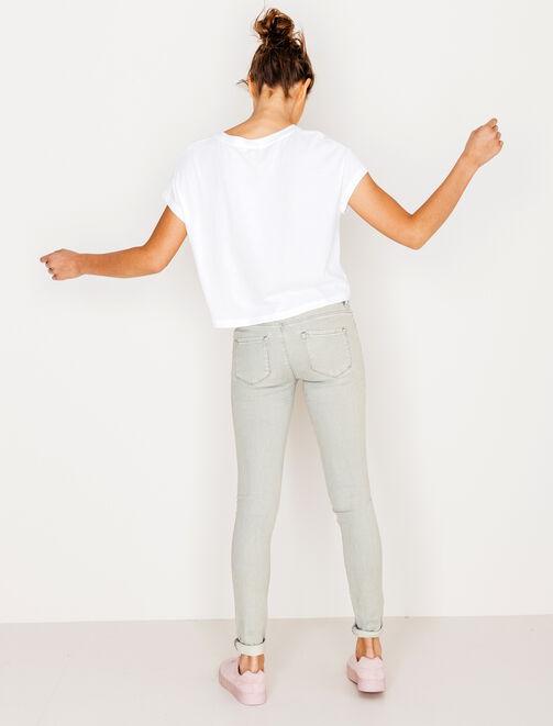 Jean skinny gris clair  femme