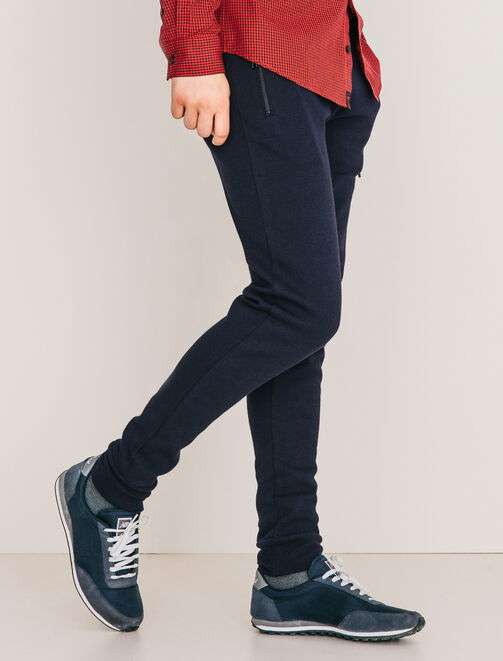 Pantalon type jogging uni homme